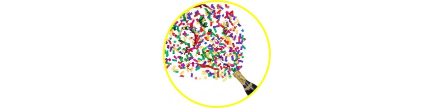 Confetti y Cañones Disparadores